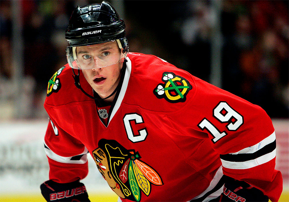 jonathan toews should keep his head up tonight the chicago homer