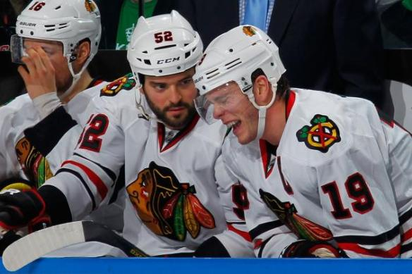 Jonathan Toews is going to miss Brandon Bollig, apparently