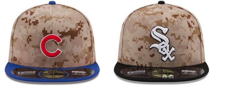 The Cubs And White Sox Will Wear These Ugly Ass Memorial Day Hats ... fad68c75a78