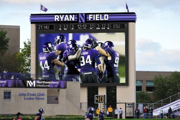 Northwestern University Football against University Maine September 21, 2013 in Evanston, Ill.
