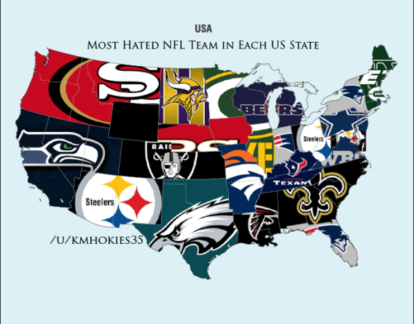 POTD: The Most Hated NFL Teams By State