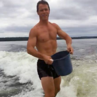 Jonathan Toews Does Ice Bucket Challenge While Wakeboarding